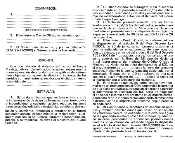 Orden hac 114 2004 de 27 de enero por la que se aprueban for Modelo acuerdo extrajudicial clausula suelo