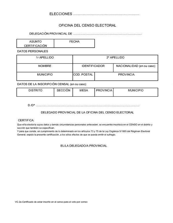 Orden int 662 2011 de 23 de marzo por la que se for Oficina del censo electoral