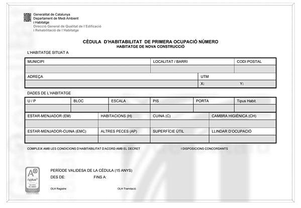Licencia de obras de madrid licencias de apertura de - Cedulas de habitabilidad ...