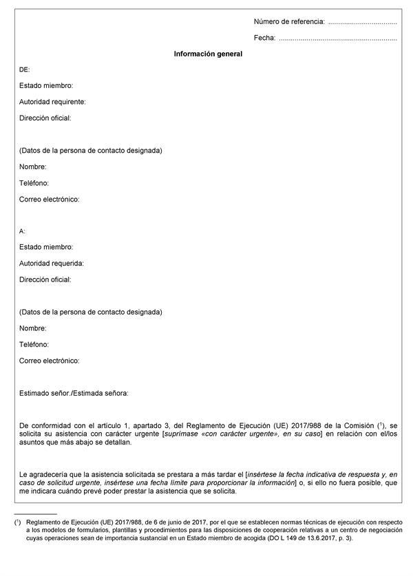 Reglamento de Ejecución (UE) 2017/988 de la Comisión, de 6 de ...