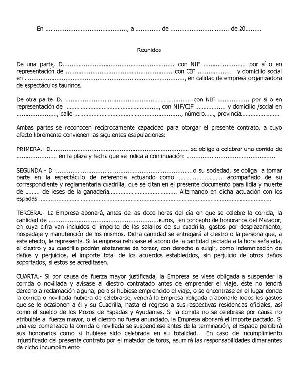 Modelo de contrato de trabajo for Formato de contrato de trabajo indefinido