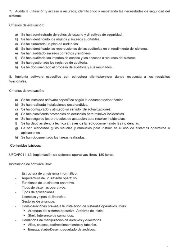 Orden 1/2011, de 10 de enero, por el que se establece la estructura ...