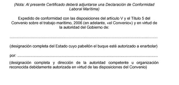 instrumento de ratificación del convenio sobre el trabajo marítimo