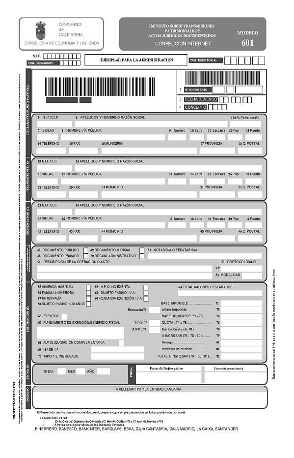 Orden hac 14 2009 de 28 de mayo por la que se aprueban for Oficina liquidadora madrid