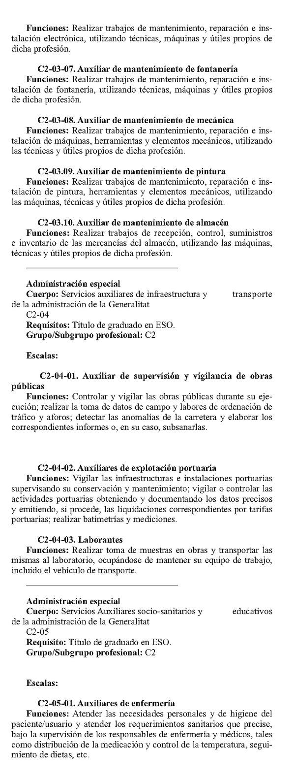 ley de la funcion publica de la generalitat: