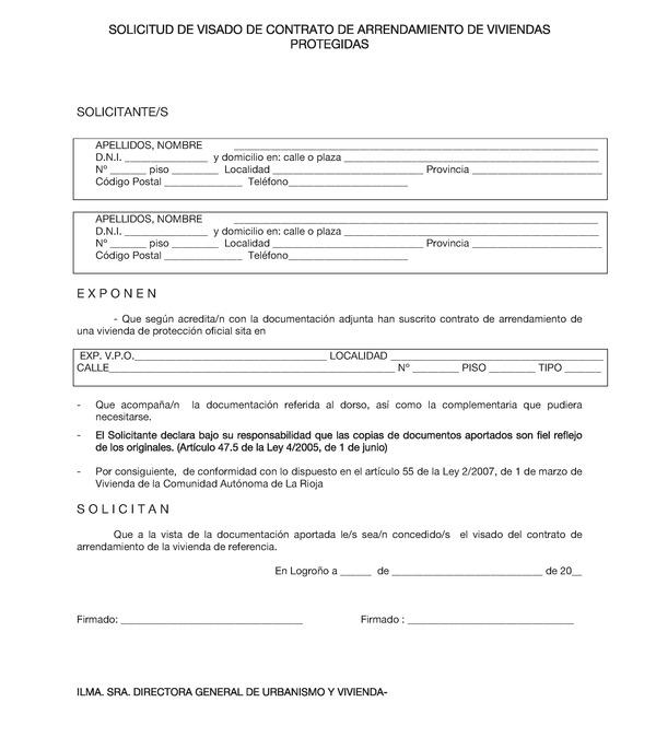 Contrato de arrendamiento de vivienda de protecci n oficial quotes - Contrato de alquiler de garaje ...
