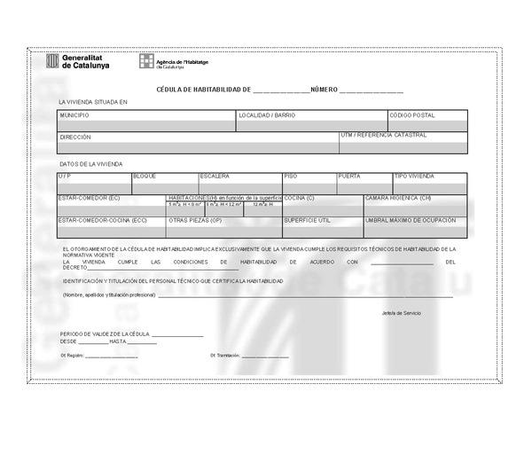 Resolucin tes 2669 2014 de 20 de noviembre por la que se - Licencia de habitabilidad ...