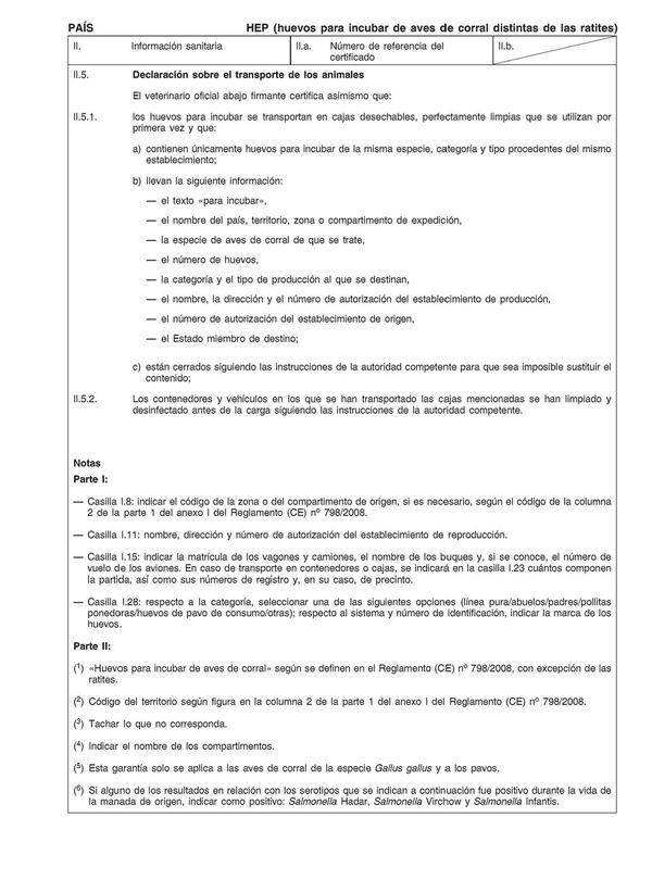 Reglamento de Ejecución (UE) nº 952/2014 de la Comisión, de 4 de ...