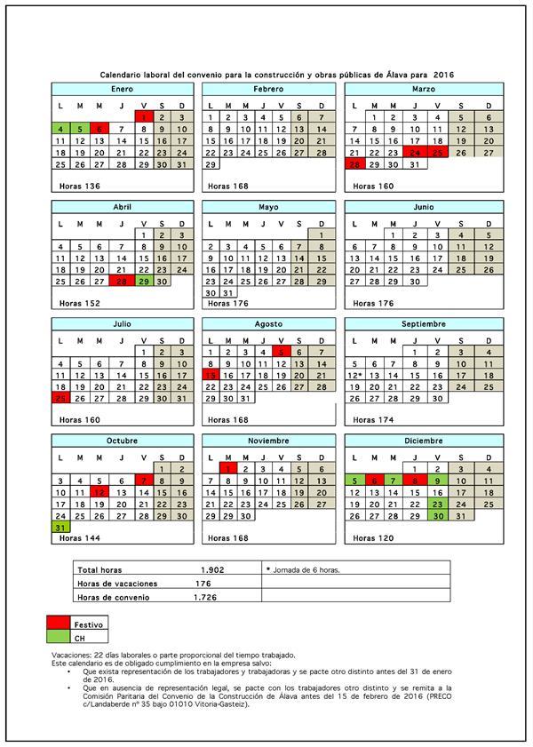 Calendario Laboral Alava 2020.Resolucion De 3 De Noviembre De 2015 Del Delegado Territorial De