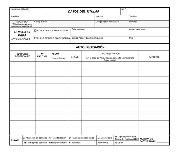 formularios isfas