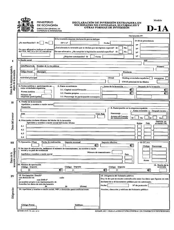 modelo d1a