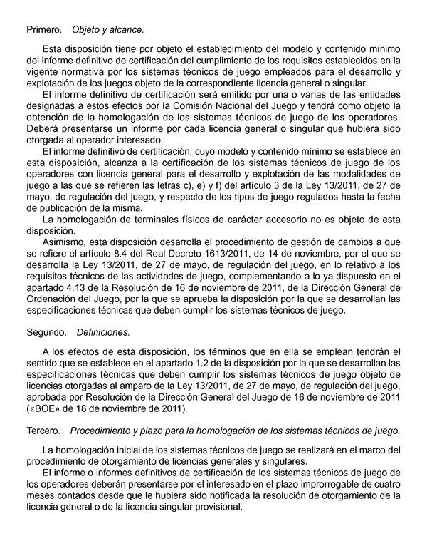 Resolución de 12 de julio de 2012, de la Dirección General de ...