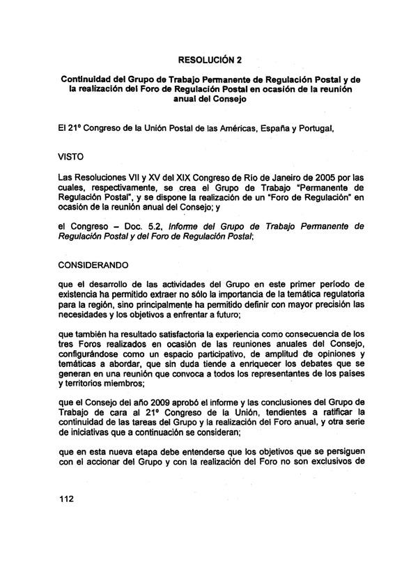 Instrumento de Ratificación de las Actas, Resoluciones y ...