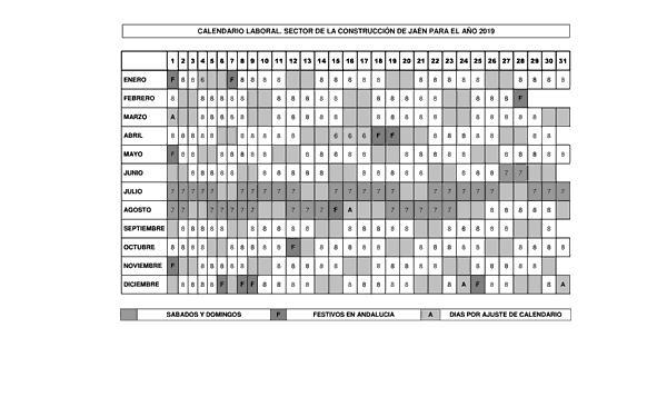 Calendario Laboral Construccion 2020.Resolucion De 14 De Diciembre De 2018 De La Delegacion Territorial