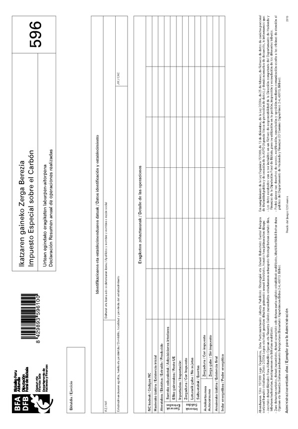 Orden foral del diputado foral de hacienda y finanzas 2558 for Oficinas hacienda bizkaia