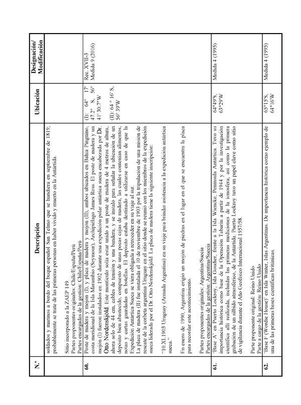 Medidas del Tratado Antártico adoptadas en la XXXIX Reunión ...