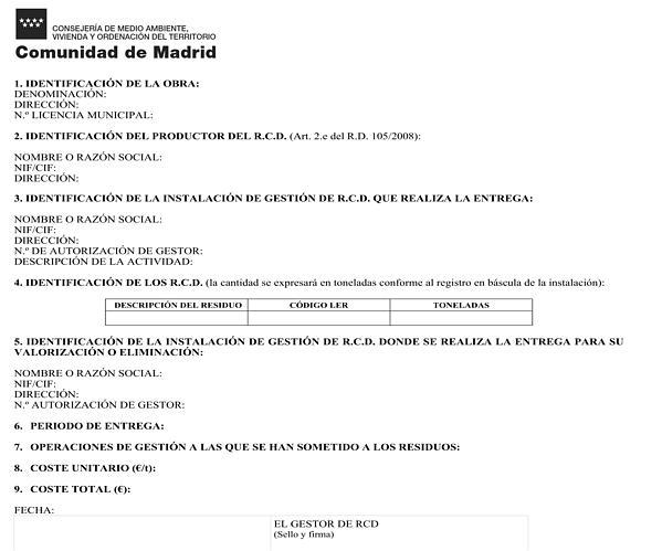 Orden 2726 2009 de 16 de julio por la que se regula la for Oficinas de registro de la comunidad de madrid