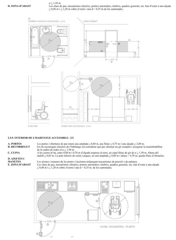 Baño Minusválidos Normativa:Disposiciones sobre edificaciones de uso público de titularidad